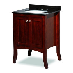 """Belmont Decor - Belmont Decor ST6 Charleston Single Sink Vanity - 24"""" - Elegant in its simplicity, the Charleston style is known for an unmistakable focus on form and function. Clean lines, exceptional resilience and fine craftsmanship; the hallmarks of the Charleston design, render this sensible and gracious style as fashionable today as it was in the 19th century."""