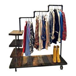 LUCY INDUSTRIAL PIPE GARMENT RACK