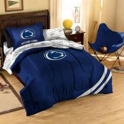 Northwest Company, The - Collegiate Penn State Complete Bed Ensemble - Show your team spirit with this athletic inspired bedding. The bedding features the team's colors, printed sheets and an applique logo on the comforter.