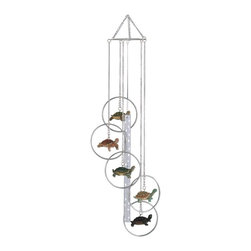 GSC - Wind Chime 5-Ring Polyresin Charm Turtle Hanging Garden Decoration - This gorgeous Wind Chime 5-Ring Polyresin Charm Turtle Hanging Garden Decoration has the finest details and highest quality you will find anywhere! Wind Chime 5-Ring Polyresin Charm Turtle Hanging Garden Decoration is truly remarkable.