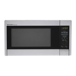"Sharp - 1.3 Cu Ft 1000W Microwave with 12.75"" Turntable, Sensor - The Sharp Carousel R451ZS 1.3 Cu. Ft. 1000W Countertop Microwave Oven makes cooking fast, easy and worry free. This roomy microwave oven has sensor cook options including potato, frozen entree and frozen vegetables. In addition to automatic settings for beverages, popcorn, reheating and defrosting, it features four soften options, an add 30-seconds key, and a convenient kitchen timer. Plus, the 12.75-inch Carousel turntable system assures even cooking and the child safety lock keeps little ones safe."