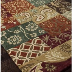 Jaipur Brio Quilted Transitional Floral Pattern Polyester Tufted Rug
