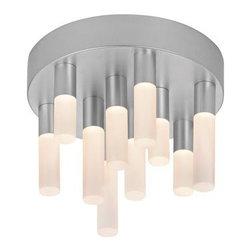 Sonneman - Sonneman | Staccato 10-Light LED Flush Mount - Design by Robert Sonneman.