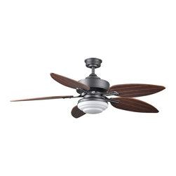 """Cocoweb - Zambrano 54"""" AC Ceiling Fan With Light - Cocoweb's Zambrano 54"""" AC Motor Ceiling Fan with Light aims to be a breath of fresh air for your home: designed from the ground up as an energy efficient solution to temperature and illumination control, this ceiling fan with light features dual rotation modes that can both cool and warm your home, all the while running quietly with advanced Whisperwillow™ Technology. This atmosphere of comfort is improved with the Zambrano's modern design, a chic and elegant ceiling fan that breathes an air of relaxation for your home life and illuminates it in warm style."""
