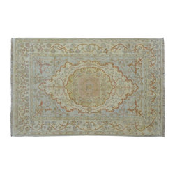4'X6' Rug, Stone Wash Hand Knotted 100% Wool 200 Kpsi Tabriz Oriental Rug SH9059 - This collection consists of fine knotted rugs.  The knots per square inch means more material in the rug as well as more labor.  This leads to a finer rug and a more expoensive rug.  Classical and traditional persian motifs are usually used as designs in these rugs.