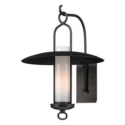"""Troy Lighting - Troy Lighting B3333 Carmel 1 Light 22"""" Outdoor Wall Lantern Sconce - Troy Lighting B3333 Carmel 1 Light 22.25"""" High Outdoor Wall SconceThe Carmel Collection features wide brimmed rain shades, wrought iron hangers and beautiful Opal White glass diffusers.Troy Lighting B3333 Features:"""