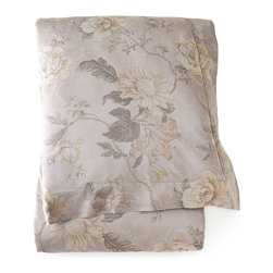 """SFERRA - King Botanical Jacquard Duvet Cover 106"""" x 92"""" - WISTERIA-GRY/PUR (106X92) - SFERRAKing Botanical Jacquard Duvet Cover 106"""" x 92""""Designer About Sferra:The story of Sferra begins at the turn of the 19th century when Gennaro Sferra left Italy for the United States in the hopes of finding a market among the Atlantic Coast for his intricate Venetian lace cuffs and collars. By 1912 he and his family had opened up shop on famed Fifth Avenue in New York City. A generation later Gennaro's two sons expanded their family's collection to include the most luxurious European linens of the day from renowned double damask from Ireland to Alençon laces from France to elaborate embroideries from Belgium and Switzerland. In 1977 the ownership of Sferra was sold by the family to Paul Hooker under whose keen business savvy and passionate stewardship this classic brand has flourished over the years. With the aid of great advancements in design and production techniques Sferra has secured its rightful position as a leader in the luxury linens industry. Above all the secret to the enduring reputation of the Sferra brand is the same now as it was a century ago only the finest materials are used in any product bearing the Sferra name."""