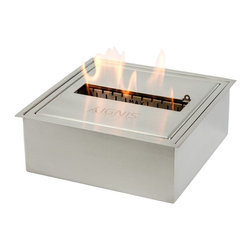 EB1212 - Ignis Ethanol Fireplace Burner Insert - The EB1212 - Ignis Ethanol Fireplace Burner Insert allows you to design a fireplace with superior styling that seduces any environment. This burner can be used as a replacement or for a custom installation. The options are endless whether you build it in to a wall or place it in an existing fireplace.