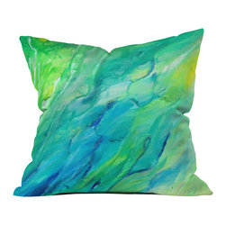 Rosie Brown The Sea Outdoor Throw Pillow - Do you hear that noise? it's your outdoor area begging for a facelift and what better way to turn up the chic than with our outdoor throw pillow collection? Made from water and mildew proof woven polyester, our indoor/outdoor throw pillow is the perfect way to add some vibrance and character to your boring outdoor furniture while giving the rain a run for its money.