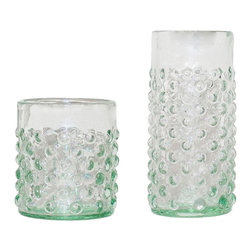 Bubble Glasses - tall - Brunch is even bubblier with the Bubble Glasses. Handmade from recycled glass, these are crafted with an emphasis on sustainable and green design.