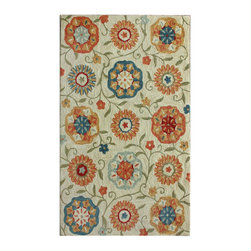 "nuLOOM - Country & Floral Transitional 8' 3"" x 11' Ivory Hand Tufted Area Rug Floral Gard - Made from the finest materials in the world and with the uttermost care, our rugs are a great addition to your home."