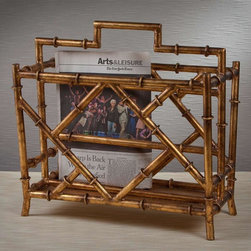 "Dessau Home - Magazine Rack in Antique Gold - Made from iron. 17 in. L x 10 in. W x 17.5 in. HValue has always been an essential ingredient at Dessau Home. ""Essentials"" represents a collection of well-appointed yet affordable home furnishings with a unique traditional styling that appeals to most transitional and contemporary home decorating needs."