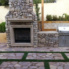 Mediterranean Fireplaces by Stone Designs