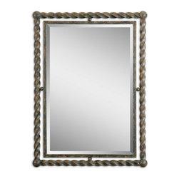 Uttermost - Uttermost 1106 Garrick Wrought Iron Mirror - Heavy Rust Wash Finish