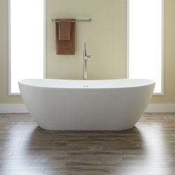 Winifred Resin Tub - The subtle double-slipper design makes this resin soaking tub a classic design that will perfectly accent your modern bathroom. Pair with a freestanding tub filler to complete your look.