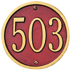 Modern House Numbers Whitehall Circle / Round Address Plaque