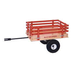 """Fifthroom - Trailer - There's always room for more, with our handy Trailer. When you already have a full wagon, just hook it up to the back, and you'll be able to haul a couple more kids, or more stuff. You can also use this Trailer on the back of your tractor. So, technically, you could call it a """"tractor trailer,"""" but that would be confusing."""