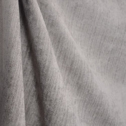 Kauf - OD Surfside Pewter Solid Chenille Outdoor Fabric By The Yard - Made from soft grey chenille, OD Surfside Pewter is an indoor/outdoor fabric.  With its soft hand, this fabric can be used for a multitude of design projects such as window treatments, outdoor upholstery and throw pillows.