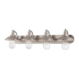 Minka Lavery - Minka Lavery 5134-84 Downtown Edison Bathroom Light In Brushed Nickel - Manufacturer: Minka Lavery