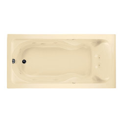 American Standard - Cadet 72 inch x 36 inch Drop In EverClean Whirlpool Tub in Bone - American Standard 2773.018WC.021 Cadet 72 inch x 36 inch Drop In EverClean Whirlpool Tub in Bone. The beautifully finished American Standard Cadet EverClean 6 ft. Whirlpool in Bone features durable acrylic construction reinforced with fiberglass for strength and uses a 6-jet system and a 2 HP motor to deliver a refreshing hydrotherapeutic massage. Form-fitted backrests add to your comfort during each relaxing bath.American Standard 2773.018WC.021 Cadet 72 inch x 36 inch Drop In EverClean Whirlpool Tub in Bone, Features:Acrylic construction with fiberglass reinforcement for durability
