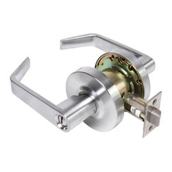 Premier - Grade 2 Leverset Lockset - Chrome - Legend 809073 Grade 2 Commercial Duty, Privacy Bed and Bath Leverset Lockset, ADA, US26D Satin Chrome Finish Features: Includes 2-3/4in. UL rated backset latch. Turn lock on interior knob. Push-button lock on interior lever. Fits 1-3/8in.-1-3/4in. door thickness. Meets ANSI Grade-2 requirements Certification.