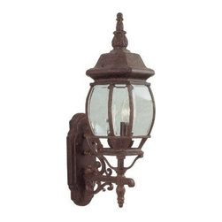 Livex Lighting - Livex Frontenac Outdoor Wall Lantern Weathered Brick -7524-18 - Livex products are highly detailed and meticulously finished by some of the best craftsmen in the business
