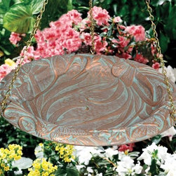 Whitehall Products LLC - Butterfly Hanging Birdbath - Oil Rub Bronze - • Color: Oil Rub Bronze
