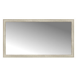 """Posters 2 Prints, LLC - 56"""" x 30"""" Libretto Antique Silver Custom Framed Mirror - 56"""" x 30"""" Custom Framed Mirror made by Posters 2 Prints. Standard glass with unrivaled selection of crafted mirror frames.  Protected with category II safety backing to keep glass fragments together should the mirror be accidentally broken.  Safe arrival guaranteed.  Made in the United States of America"""