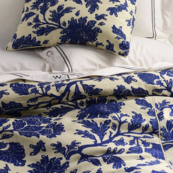 Harbor Springs Floral Duvet Cover - Is there anything more calming than a floral cream and blue duvet cover? This beautiful pattern can go coastal, French, or Chinoiserie.