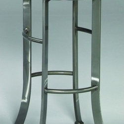 """Johnston Casuals - High Rise 30"""" Quick-Ship Backless Swivel Barstool in Pewter - Give your home bar a contemporary facelift with this stylish High Rise 30"""" Quick-Ship Backless Barstool. With its classic round backless design, swivel seat, and artistic flared legs, this contemporary barstool is sure to modernize your dcor. This barstool sports one of Johnston Casuals' most popular fabric and finish combinations. As a result, this barstool ships out quickly so you can enjoy its sleek contemporary styling in no time! And if a barstool doesn't fit your needs, be sure to check out the High Rise 26"""" Quick-Ship Backless Swivel Counter Stool! Swivel Barstool Features: -Premium """"pewter"""" finish with """"black"""" suede seat. -Quick-ship fabric and finish combination gets to you fast. -Individually hand-crafted in the USA. -High quality powder-coat metal construction. -Commercial-grade welding. -Stylish contemporary barstool design. -Inspired round backless barstool. -Swivel barstool. -Artistic flared legs. -Seat height: 30"""". -Overall dimensions: 30"""" H x 19"""" W x 19"""" D. -10-Year structural failure warranty on metal frame."""