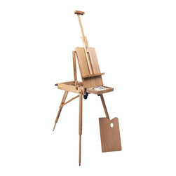 """Martin Universal - Martin Universal Rolling Rivera French Sketch Box Easel Multicolor - 92-3037 - Shop for Art Easels from Hayneedle.com! The Martin Universal Rolling Rivera French Sketch Box Easel is a portable easel that can be transported outdoors into the """"plein air"""" or open air. Handcrafted from hand-oiled elm wood this easel features a locking top drawer metal in and under the drawer and brass and brass-plated hardware. This easel easily folds down into a compact size that can be rolled to the next painting site.About Martin Universal/F. Weber Co.For a century and a half the name Martin Universal and F. Weber Co. have been synonymous with quality art materials. Established in 1853 in Philadelphia Pa. the Martin/Weber is the oldest and one of the largest manufacturers of art materials in the United States."""
