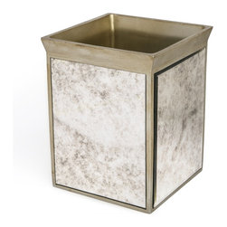 Kassatex - Kassatex Palazzo Collection Waste Bin - Out with the old, in with the new … this updated and eye-catching wastebin will dispose of your old tissues, dirty swabs and used dentil floss with contemporary panache.
