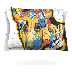 "Kess InHouse - Rebecca Fischer ""Floyd"" German Shepard Pillow Sham (Woven, 30"" x 20"") - Pairing your already chic duvet cover with playful pillow shams is the perfect way to tie your bedroom together. There are endless possibilities to feed your artistic palette with these imaginative pillow shams. It will looks so elegant you won't want ruin the masterpiece you have created when you go to bed. Not only are these pillow shams nice to look at they are also made from a high quality cotton blend. They are so soft that they will elevate your sleep up to level that is beyond Cloud 9. We always print our goods with the highest quality printing process in order to maintain the integrity of the art that you are adeptly displaying. This means that you won't have to worry about your art fading or your sham loosing it's freshness."
