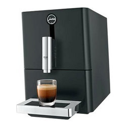 Jura - Jura ENA Micro 1 Automatic Coffee Center / Espresso Machine, Piano Black - Ultra-compact: Measuring in at 9 in wide, 17.5 in deep and 12.7 in high, this machine is Jura's smallest superautomatic on the market.Programmability: Program three different cup sizes (ristretto, espresso or coffee) and select from two dosage levels (8 to 10 grams of ground coffee) to brew the perfect cup. Touchscreen Technology: The touch panel features illuminated icons for each cup size, in addition to prompting you for regular machine maintenance. Conical Burr Grinder: The professional grade grinder gently grinds beans before brewing. Aroma Preservation Seal: A protective seal on the bean hopper keeps beans at their freshest.Height-adjustable Coffee spout: The cup clearance ranges from 2-5.5 in, making it more compatible with larger travel mugs. Energy Efficient: The machine automatically swit to energy-saving mode after five minutes, and turns off after two hours. A Zero-Energy switch ensures the machine draws no energy when not in use. Stainless Steel Boiler.