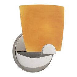 WAC Lighting - WAC Lighting WS53-G513 1 Light Up Lighting Wall Sconce Ella Collection - WAC Lighting WS53-G513 Contemporary / Modern 1 Light Up Lighting Wall Sconce from the Ella CollectionModern solid colored demiurgic glass shade for use with low voltage and line voltage wall canopies to produce a decorative wall sconce.  Glass shade and halogen lamp combine to provide warm, even light distribution without glare.  Features: