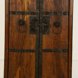 Antique Asian Cabinet with New Doors made from Old Wood - Antique Asian Cabinet with New Doors made from Old Wood