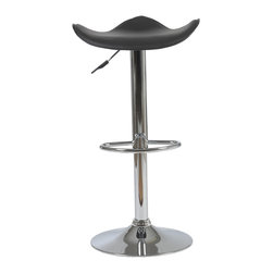 Euro Style - Euro Style Fabia Bar or Counter Stool 04371 - Contemporary bar chair perfect from top to bottom. Actually with its uniquely formed seat its especially good with bottoms. Chrome plated steel makes it sturdy and permanently hip.