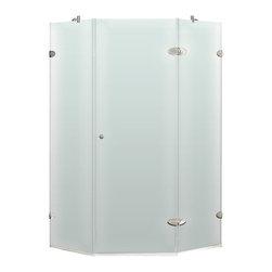 """VIGO Industries - VIGO 40 x 40 Frameless Neo-Angle 3/8"""" Shower, Left - Both dramatic and space-saving, the VIGO frameless neo-angle shower enclosure creates a beautiful focal point for your bathroom."""