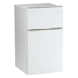"Avanti - 3.1 cu.ft Refrigerator - 3.1 CU. FT. CAPACITY, 2.1 CF Refrigerator Section, 1.0 CF Freezer Section, Beverage Can Dispenser Holds up to Five 12 oz. Cans, 2 Liter Bottle Storage on the Door, Clear View Crisper, Full Range Temperature Control, Door Bins for Additional Storage, Space Saving Flush Back Design, Recessed Door Handle, Reversible Door - Left or Right Swing, Molded Decorative Counter-Top, ADA Compliant, Free standing installation only. Proper ventilation is required to maintain satisfactory cooling and overall performance. See owner's manual for proper installation requirements. Unit dimensions 33.5"" H x 18.75"" W x 19.75"" D"