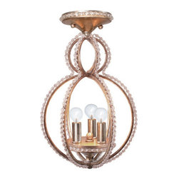 Crystorama Lighting Group - Crystorama Lighting Group 6760-C Garland 3 Light Semi-Flush Ceiling Fixture - Features: