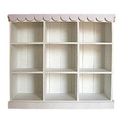 Bradshaw Kirchofer Cottage Book and Toy Shelf - This amazingly sweet bookshelf and toy storage ...