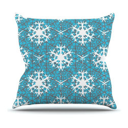 """Kess InHouse - Miranda Mol """"Precious Flakes"""" Throw Pillow (Outdoor, 20"""" x 20"""") - Decorate your backyard, patio or even take it on a picnic with the Kess Inhouse outdoor throw pillow! Complete your backyard by adding unique artwork, patterns, illustrations and colors! Be the envy of your neighbors and friends with this long lasting outdoor artistic and innovative pillow. These pillows are printed on both sides for added pizzazz!"""