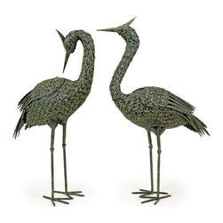 "IMAX - Metal Coastal Birds - Set of 2 - Detailed costal Metal Birds, set of two Item Dimensions: (29-30""h x 15-19""w x 7"")"