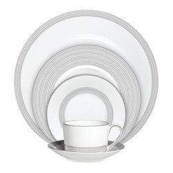 Vera Wang - Vera Wang Wedgwood Moderne 5-Piece Place Setting - A geometric eyelet pattern is featured on the Vera Wang Wedgwood Moderne dinnerware collection.
