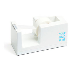 Tape Dispenser, White, Customized - Make it all yours.