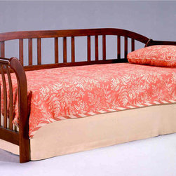 Bernards - Chelsea Cherry Sleigh Daybed - Chelsea Cherry Sleigh Style Daybed. Link spring and pop up unit is sold separately.