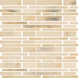 Susan Jablon Mosaics - Travertine Stained Glass Tile - This hand cut, hand made glass mosaic tile is a travertine inspired colorway. Its neutral bone and brown tones will coordinate beautifully with your light or brown toned counter top.This travertine subway stained glass tile is a mix of light brown and beige earth tones. The contrast between the contemporary shape and the classic look of stained glass make these glass tiles a great design idea for a wide range of projects. Install them vertically and you can create a subtle upward flow of energy in your space. When installed horizontally they flow perfectly in under cabinet installations including kitchen backsplashes. It is very easy to install as it comes by the square foot on mesh and it is very easy to clean! About a decade ago, Susan Jablon re-ignited her life-long passion for mosaics and has built a customer-focused, artist-driven, business offering you the very best in glass and decorative tiles and mosaics. We are a glass tile store committed to excellence both personally and professionally. With lines of 100% SCS Qualified recycled tile, 12 colors and 6 shapes of mirror, semi precious turquoise stones from Arizona mines, to color changing dichroic glass. Stainless steel tiles in 8mm and 4mm and 12 designs within each, and anything you can dream of. Please note that the images shown are actual photographs of the tiles however, colors may vary due to the calibration of each individual monitor. Ordering samples of the tiles to verify color is strongly recommended.