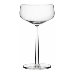 Iittala - Essence Cocktail Bowl, Set of 2, 10.25 Oz. Clear - The vintage-style champagne coupe has come back into style in a big way. Don't just save them for the bubbly — fill them with your favorite cocktail and a festive garnish for a super sophisticated happy hour. At the end of the night, simply put them in the dishwasher for easy, breezy cleanup.