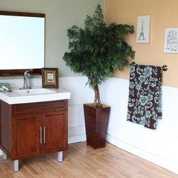 Bellaterrra - Bellaterra 203131 31.5 In Single Sink Vanity-Wood-Walnut - 31.5x18.3x35 in. - Bellaterra 203131 31.5 In Single Sink Vanity-Wood-Walnut - 31.5x18.3x35 in.