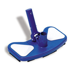 Blue Wave - Blue Wave Vinyl Liner w/ Vacuum Head - Vinyl liner vacuum head exceptional cleaning power! Designed especially for vinyl liner pools, this vac head's unique brush pattern channels debris directly to the suction for easy removal. Heavy weights help the vacuum hug the pool floor for optimal cleaning power. Snap-adapt handle fits on any standard telephone. Weighs approximately 3 lbs.